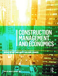 Construction Management and Economics -Journal Addition - ACE 2019